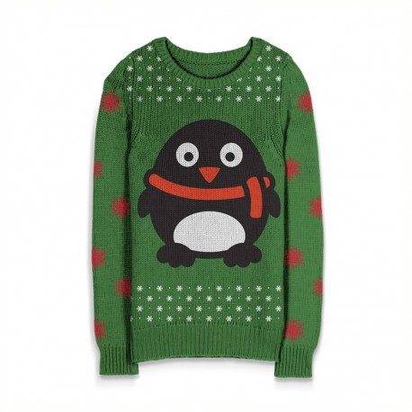 Holiday Sweater Penquin w/Scarf