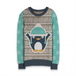 Holiday Sweater Penquin w/Hat